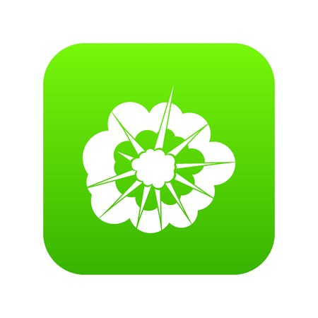 Cloudy explosion icon digital green