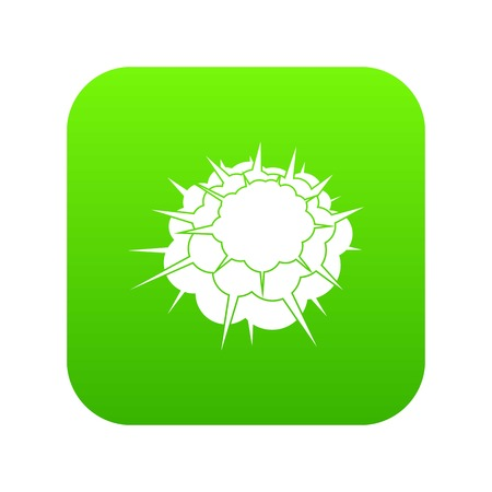 Atomic explosion icon digital green Illustration