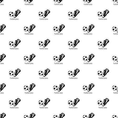 Football pass pattern vector seamless repeating for any web design