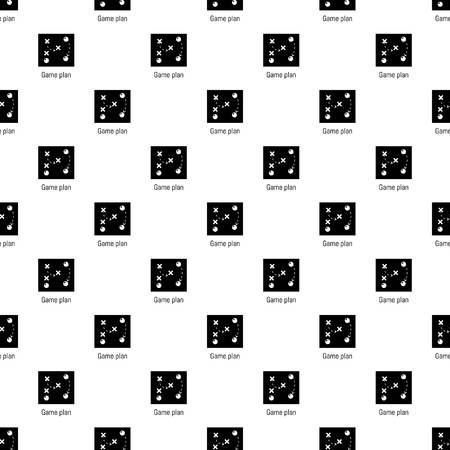 Game plan pattern vector seamless repeating for any web design Vektorové ilustrace