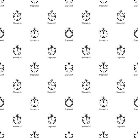 Stopwatch pattern vector seamless repeating for any web design Banque d'images - 130235876