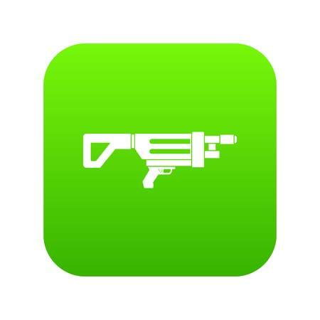 Game gun icon digital green
