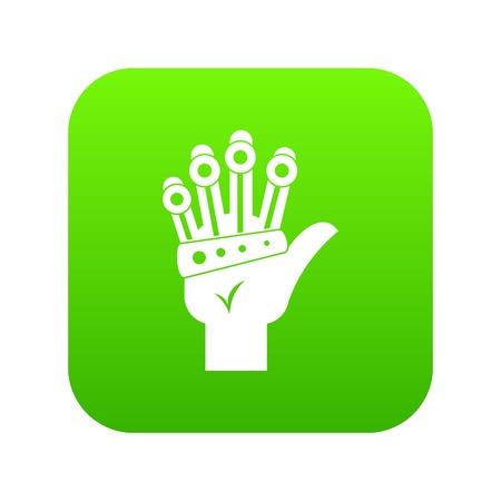 Vr manipulator icon digital green