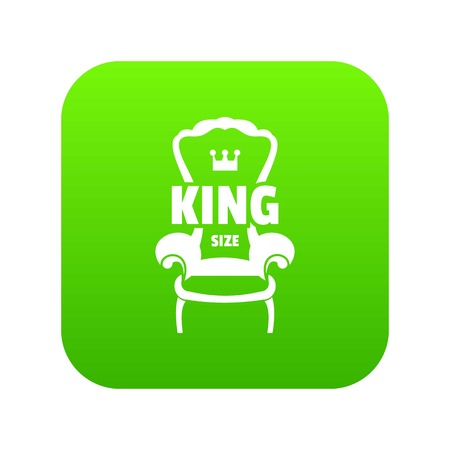 Royal armchair icon green vector