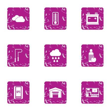 Movement icons set. Grunge set of 9 movement vector icons for web isolated on white background Foto de archivo - 130235931