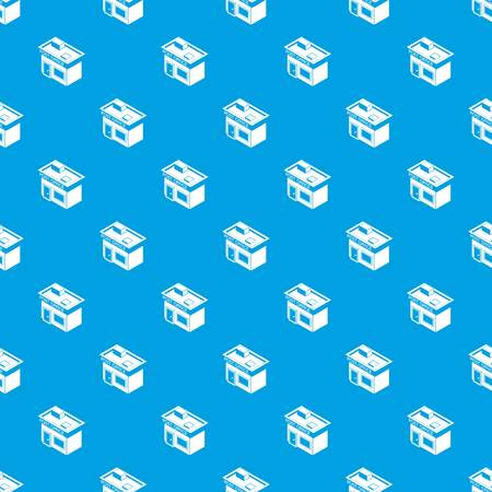 Post office pattern vector seamless blue