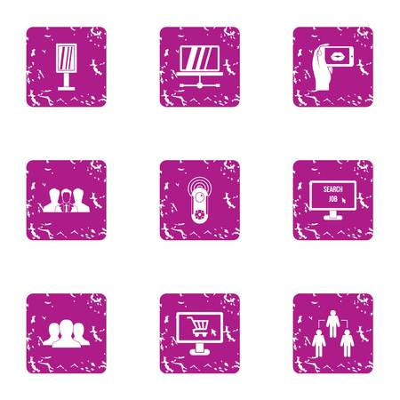 Effort icons set. Grunge set of 9 effort vector icons for web isolated on white background Foto de archivo - 130235949