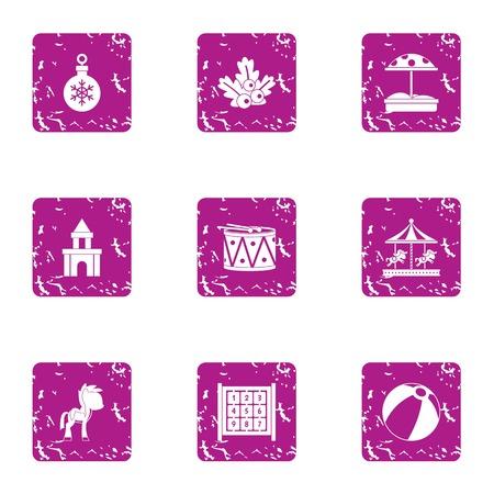 Babe icons set. Grunge set of 9 babe vector icons for web isolated on white background
