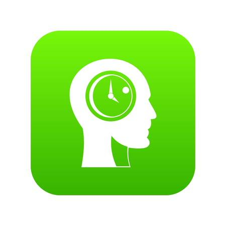 Time management icon digital green for any design isolated on white vector illustration