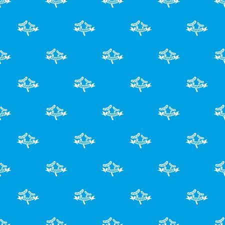 Sausage pattern vector seamless blue Иллюстрация