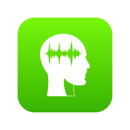 Sound wave icon digital green for any design isolated on white vector illustration Vektoros illusztráció