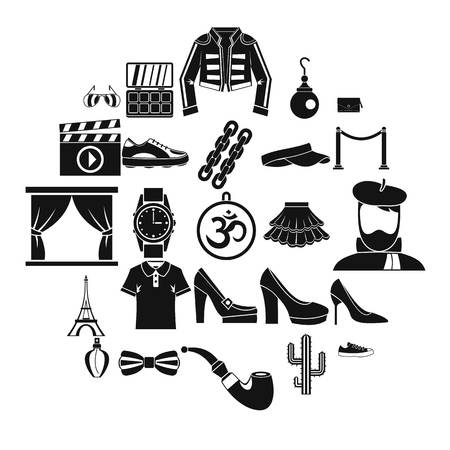 Designer icons set. Simple set of 25 designer vector icons for web isolated on white background