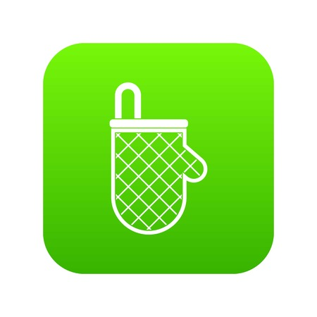 Kitchen protective glove icon digital green for any design isolated on white vector illustration Illustration