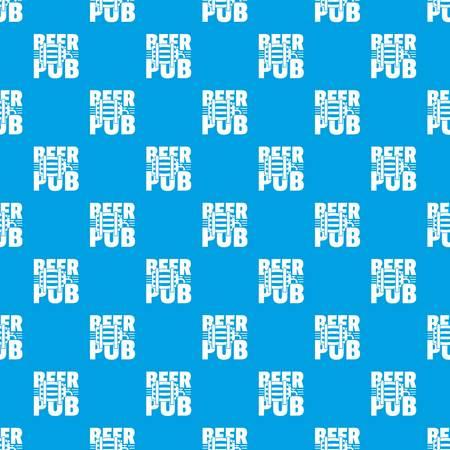 Beer pub pattern vector seamless blue Ilustrace