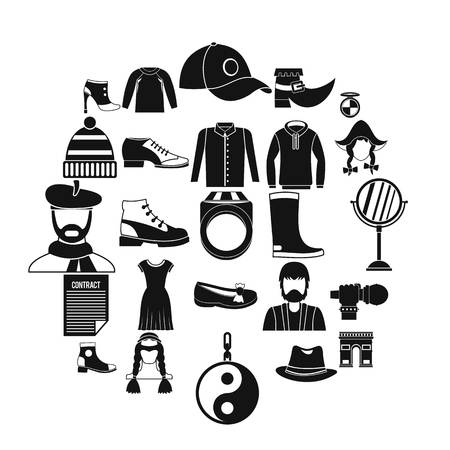 Hairdresser icons set. Simple set of 25 hairdresser vector icons for web isolated on white background