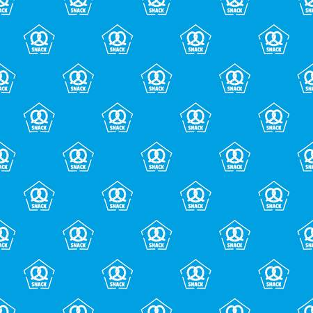 Snack pattern vector seamless blue