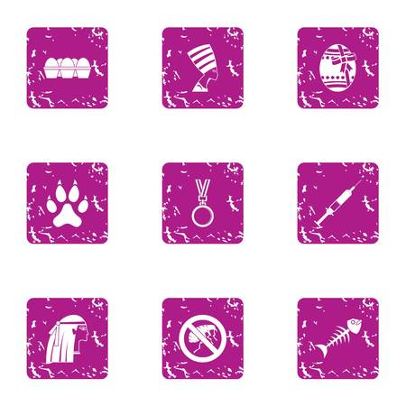 Credo icons set. Grunge set of 9 credo vector icons for web isolated on white background