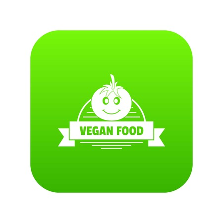 Tomato icon green vector Illustration