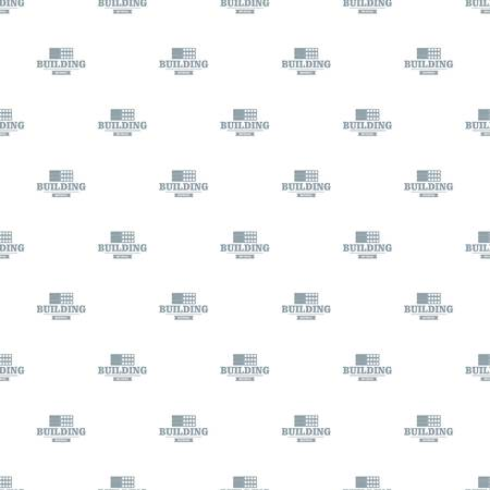 Construction emblem pattern vector seamless Illustration
