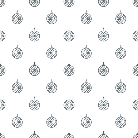 Modern christmas ball pattern vector seamless
