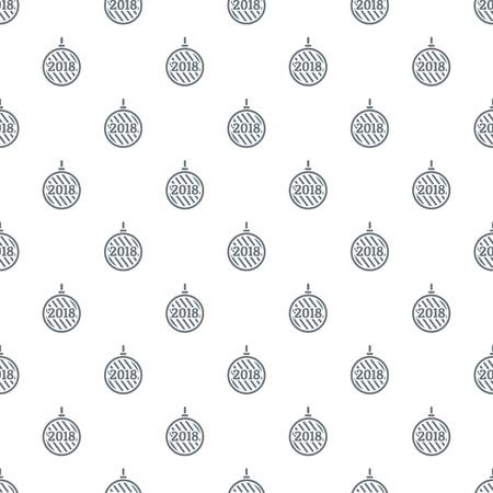 Modern christmas ball pattern vector seamless