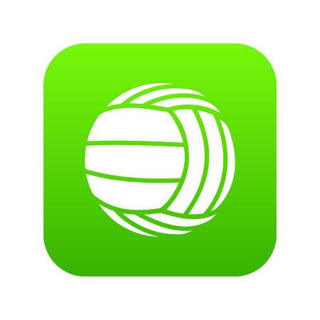 Modern volleyball icon green vector isolated on white background
