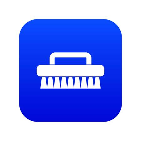 Cleaning brush icon digital blue