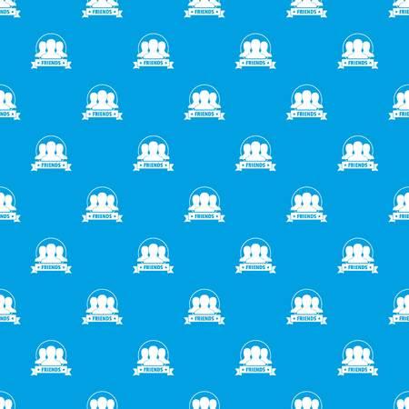 Friends pattern vector seamless blue