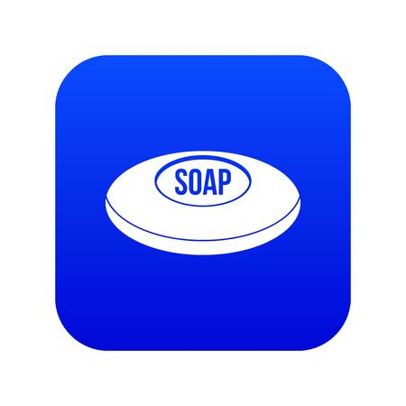 Soap icon digital blue for any design isolated on white vector illustration