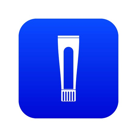 Toothpaste tube icon digital blue for any design isolated on white vector illustration