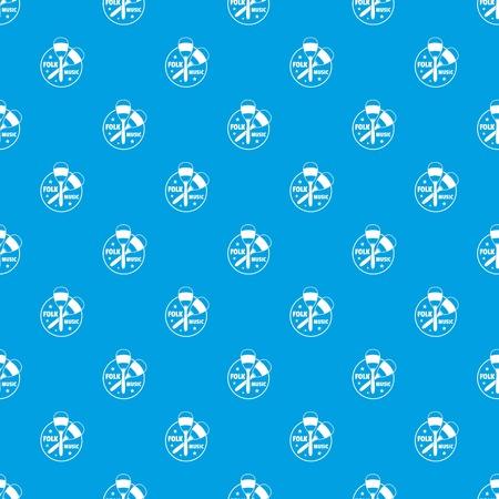 Maraca pattern vector seamless blue