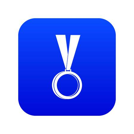 Medal icon digital blue for any design isolated on white vector illustration