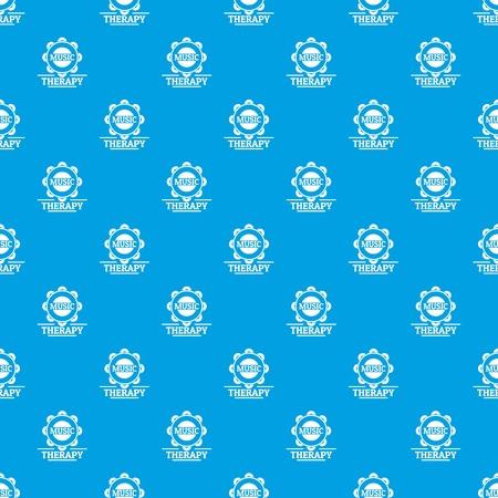 Tambourine pattern vector seamless blue