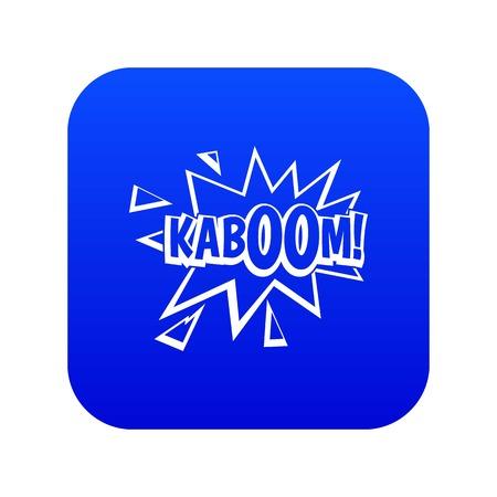 Kaboom, explosion icon digital blue Illustration