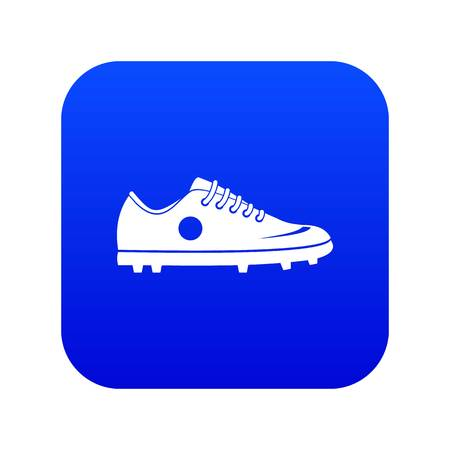 Soccer shoe icon digital blue for any design isolated on white vector illustration Çizim