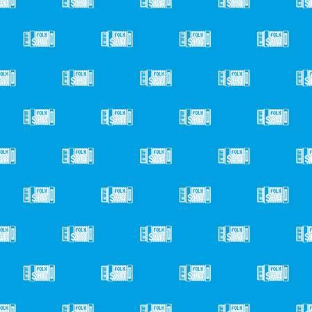 Accordion pattern vector seamless blue Ilustração