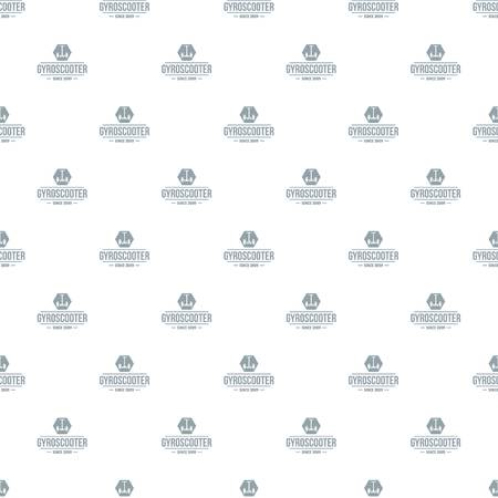 Balance gyro scooter pattern vector seamless Vettoriali