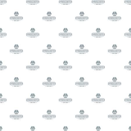 Balance gyro scooter pattern vector seamless Illustration