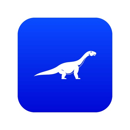 Titanosaurus dinosaur icon digital blue
