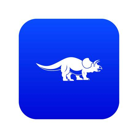 Styracosaurus icon digital blue