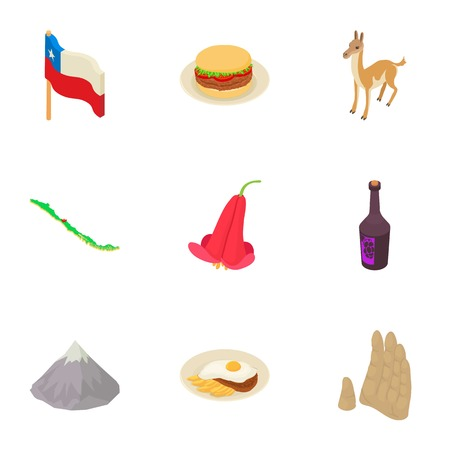 Clime icons set. Isometric set of 9 clime vector icons for web isolated on white background Ilustração