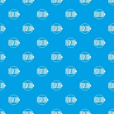 Nose piercing pattern vector seamless blue