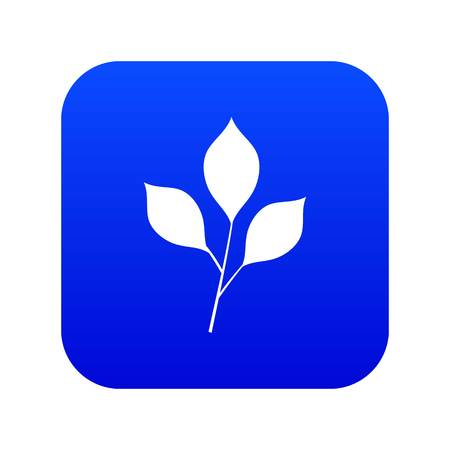 Cherry leaves icon digital blue for any design isolated on white vector illustration 矢量图像