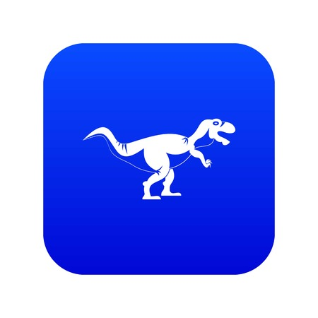 Tyrannosaur dinosaur icon digital blue