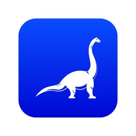 Brachiosaurus dinosaur icon digital blue