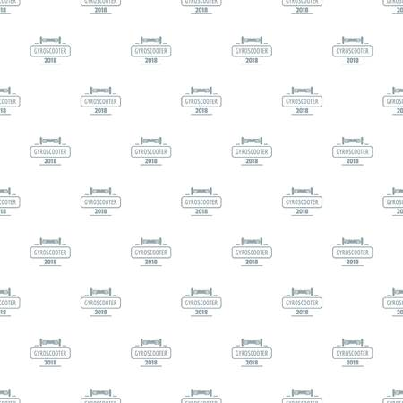Travel gyro scooter pattern vector seamless