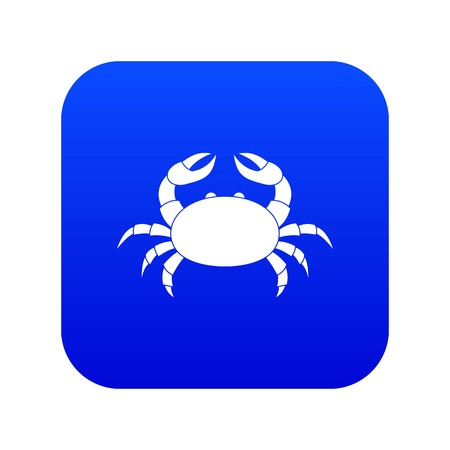 Raw crab icon digital blue