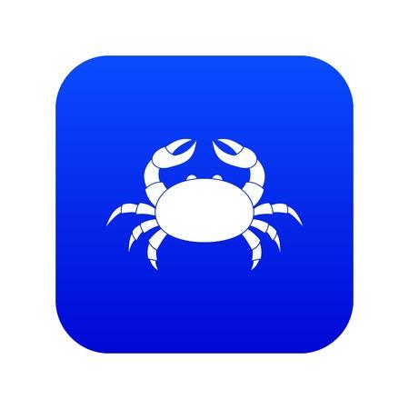 Raw crab icon digital blue
