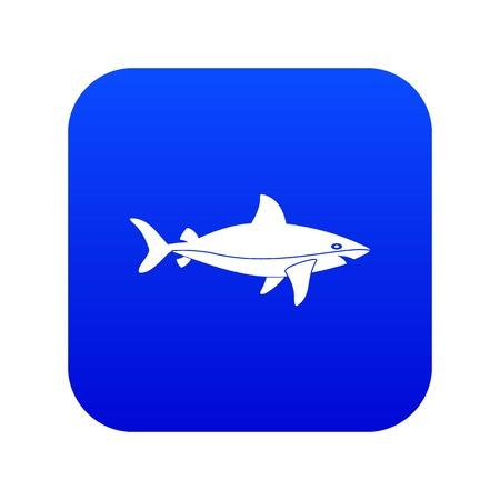Shark fish icon digital blue