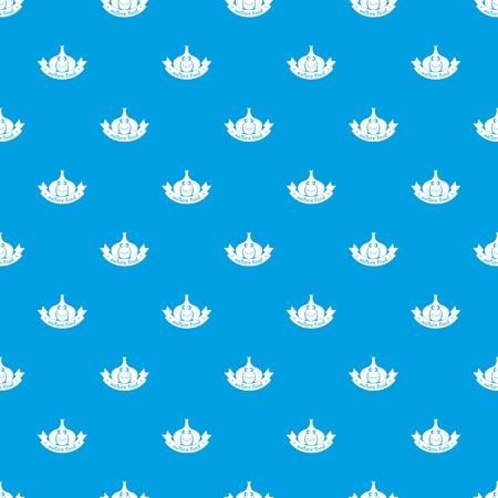 Garlic pattern vector seamless blue